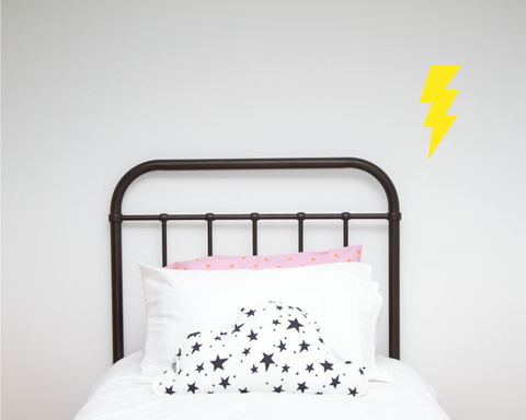Lightning Bolt Single Wall Sticker - Wall decals - 100 Percent Heart
