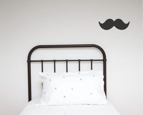 Moustache Single Wall Sticker - Wall decals - 100 Percent Heart