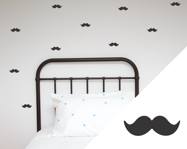 Moustache Wall Stickers - Wall decals - 100 Percent Heart