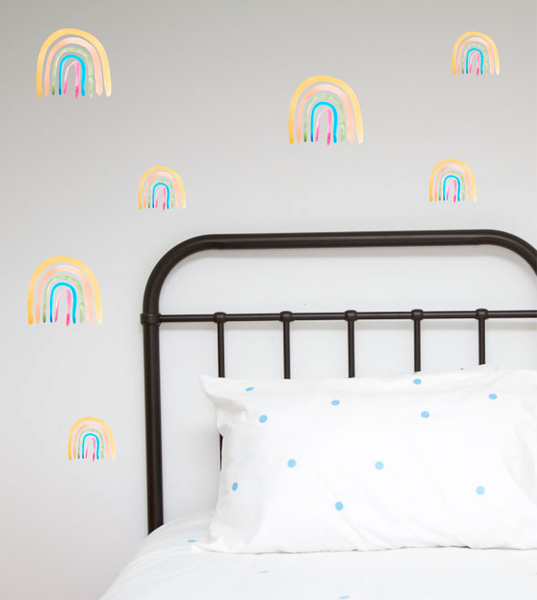 Watercolour Rainbows Wall Stickers