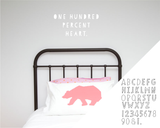 Alphabet - Papercut - Wall decals - 100 Percent Heart