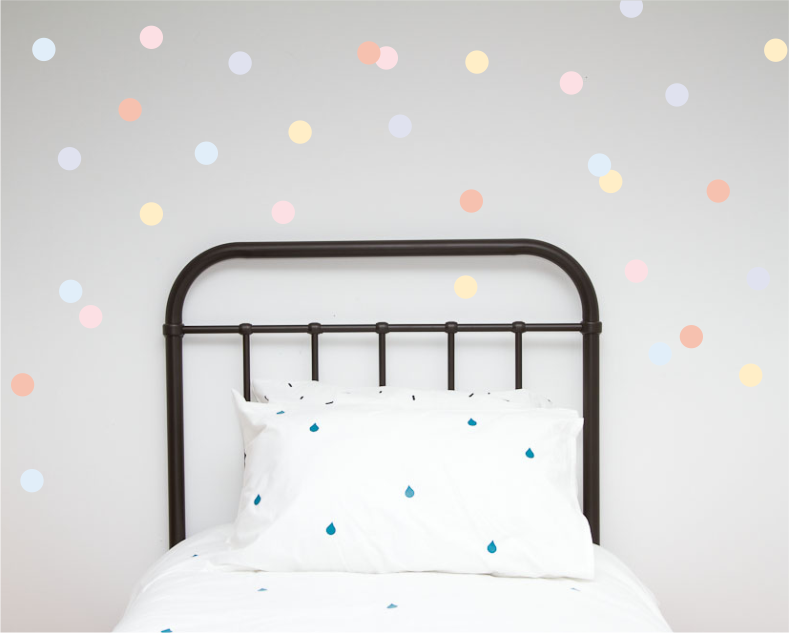 Polka Dot Wall Art Stickers - Pastels