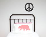 Peace Sign Single Wall Sticker - Wall decals - 100 Percent Heart