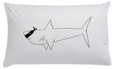Sharks Rule Organic Pillow Case - Wall decals - 100 Percent Heart