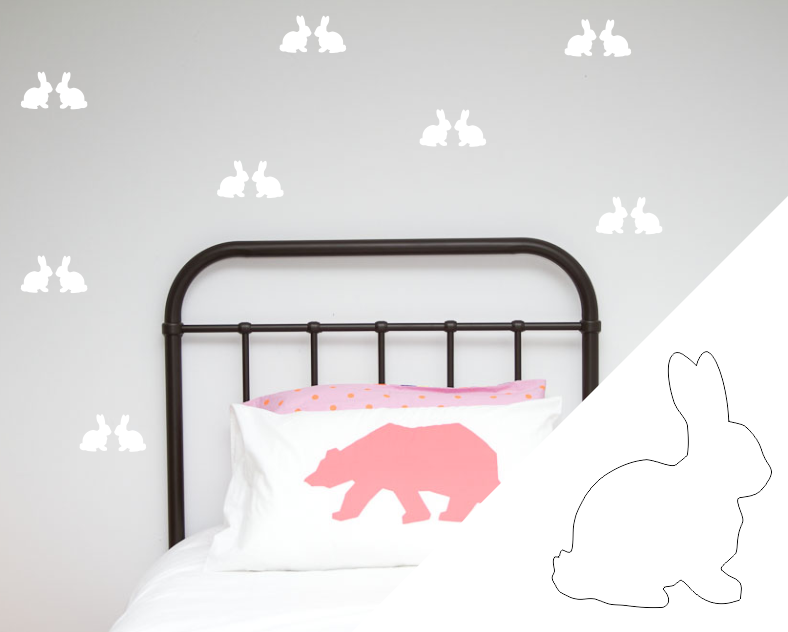 Rabbits Wall Stickers - Wall decals - 100 Percent Heart