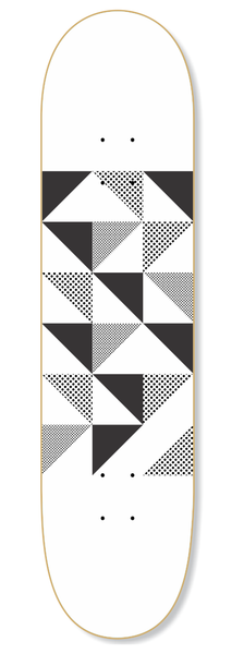 Geo Black Skateboard Deck