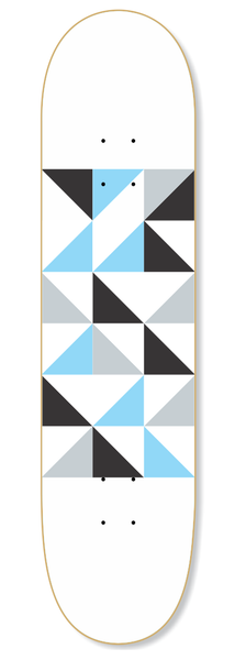 Geo Blue Skateboard Deck