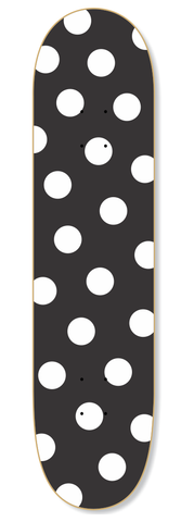 Polka Dots Black & White Skateboard Deck - Wall decals - 100 Percent Heart
