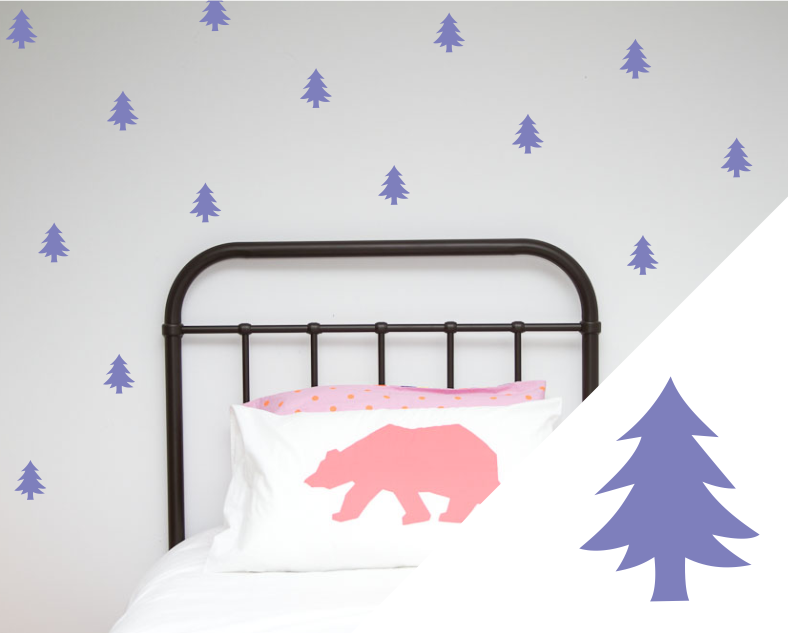Trees wall art stickers - Wall decals - 100 Percent Heart