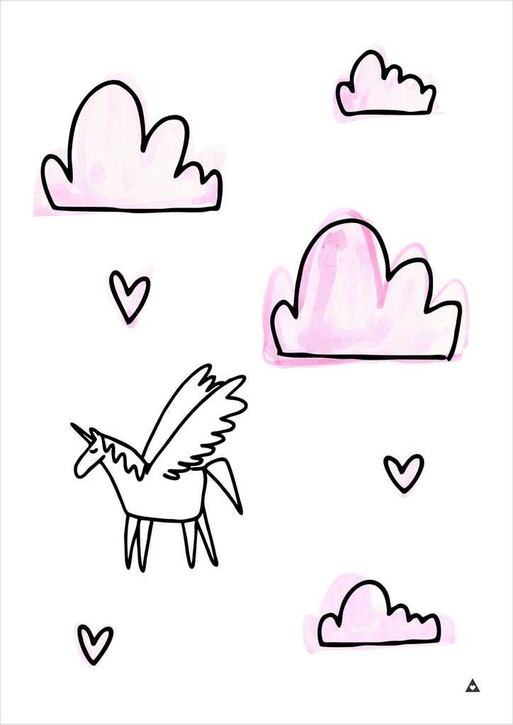 Unicorn Dreams Art Print - Wall decals - 100 Percent Heart