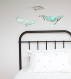 Whales Watercolour Wall Sticker