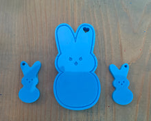 Load image into Gallery viewer, Peep Bunny Keychain