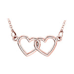 14k white gold infinity heart necklace