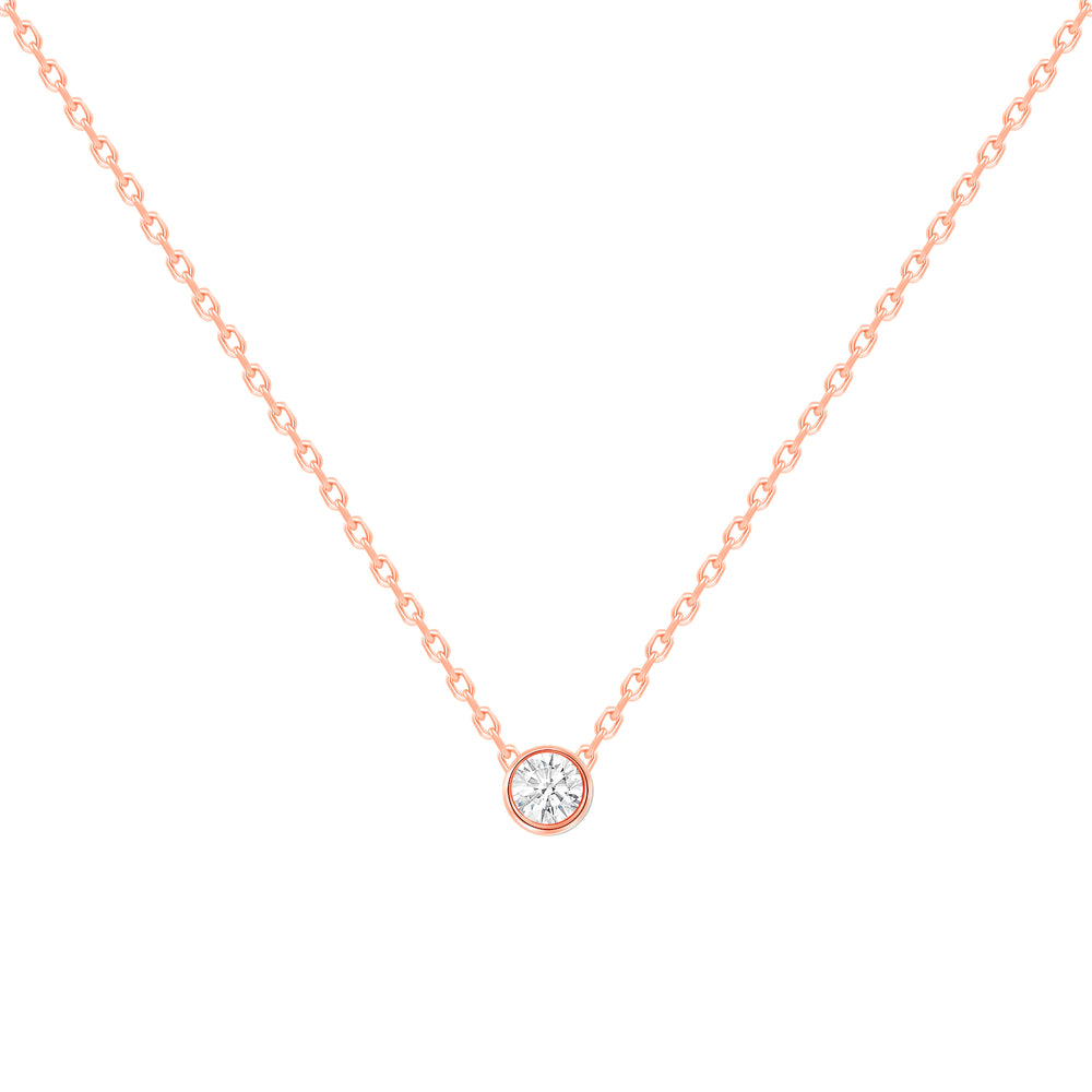 Petite Bezel Diamond Necklace