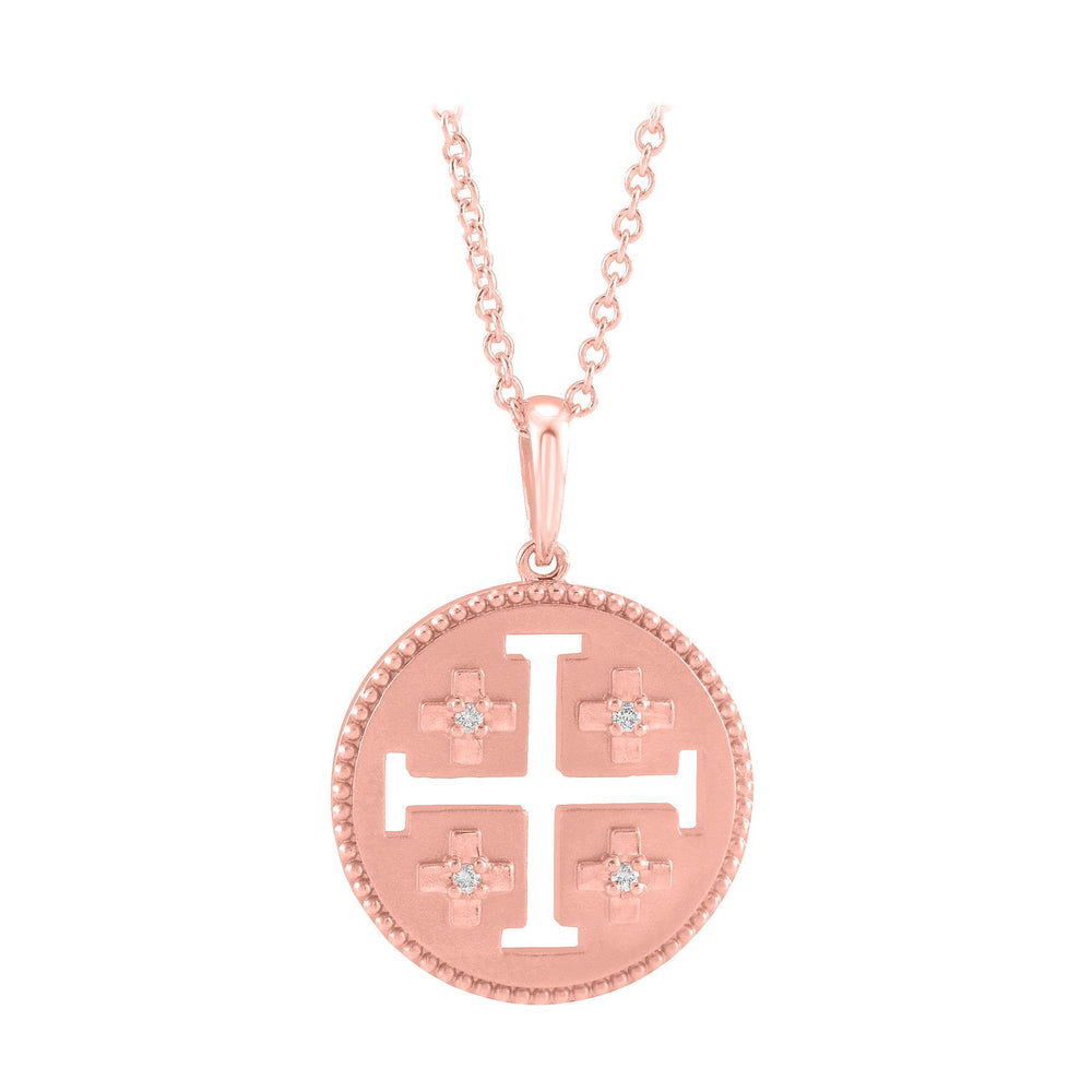 14k rose gold Jerusalem necklace