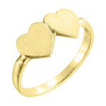 Double Heart Ring (Engrave-able)