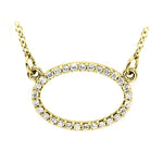 Oval Diamond Pendant Necklace