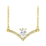 Pear Diamond Chandelier Necklace