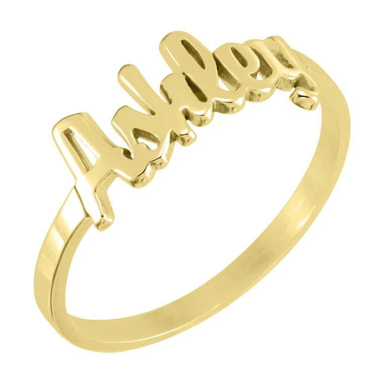 Personalize Script Ring