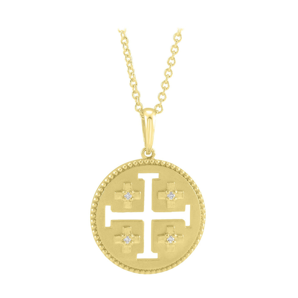 Jerusalem Cross Diamond Necklace