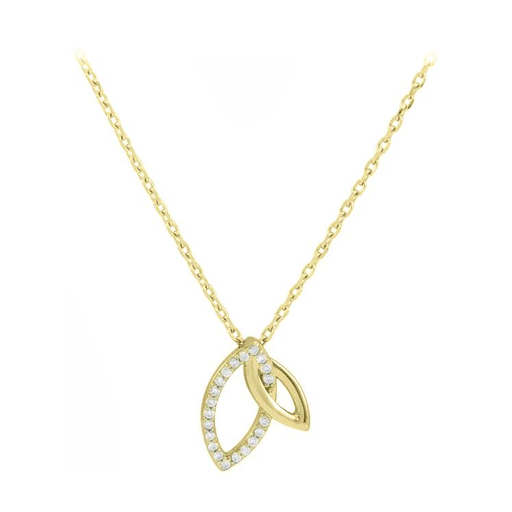 Double Leaf Diamond Necklace