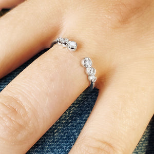 Six Stone Diamond Bezel Ring