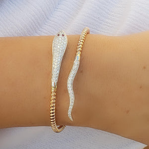 snake diamond bangle