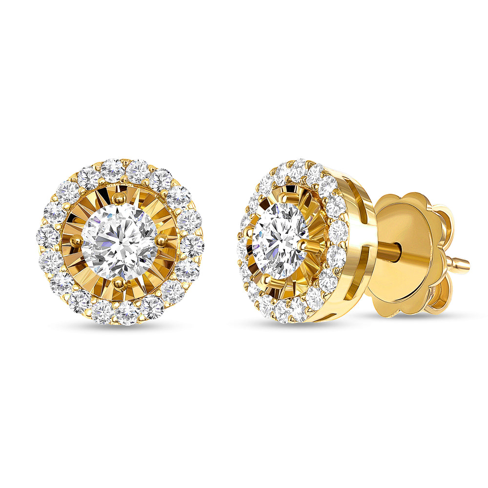 Astro Halo Diamond Earrings