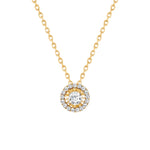 Halo Round Diamond Necklace