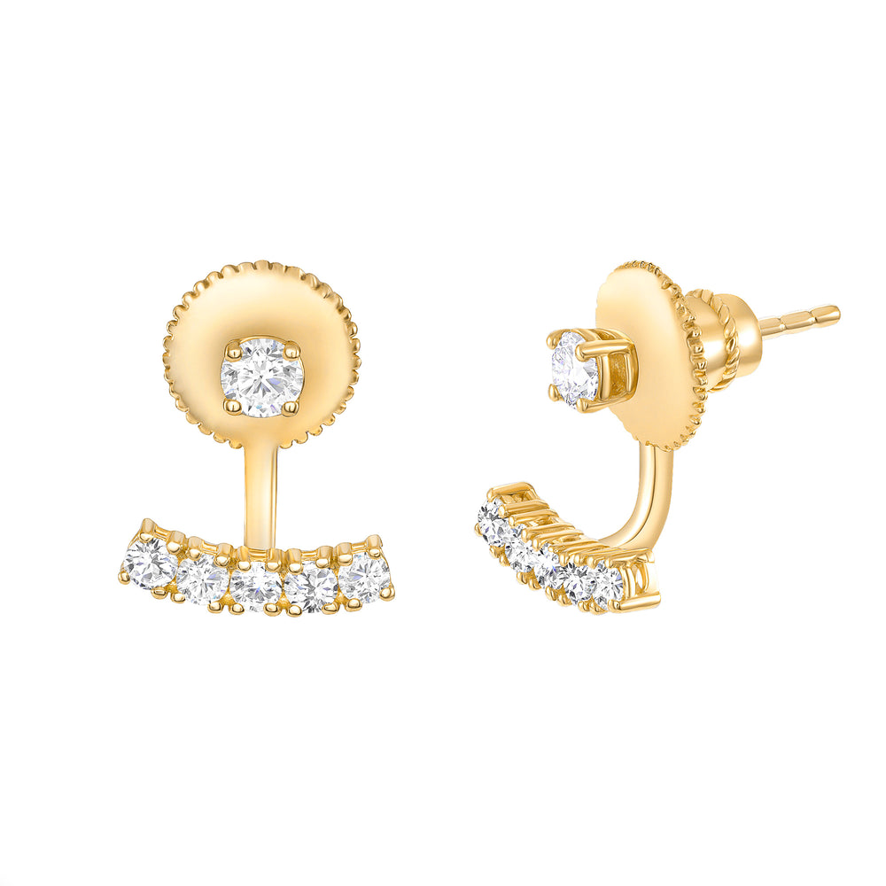 Ball & Bar Diamond Earrings