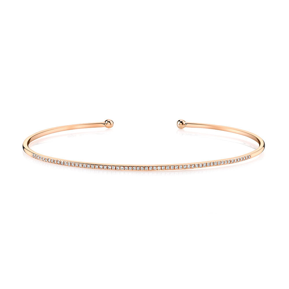 Be Brave Rose Gold Bangle Bracelet