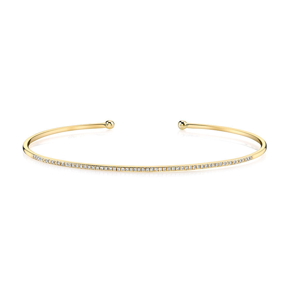 Be Brave Yellow Gold Bangle Bracelet