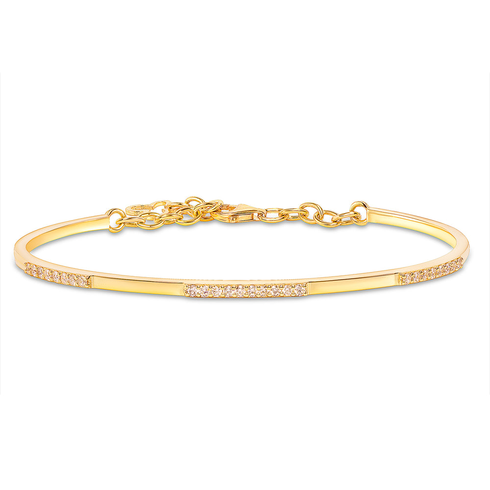 yellow gold diamond cuff bangle