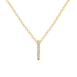 California-Dreaming Diamond Bar Necklace