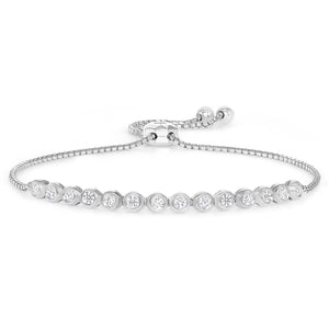 White gold diamond bezel bracelet