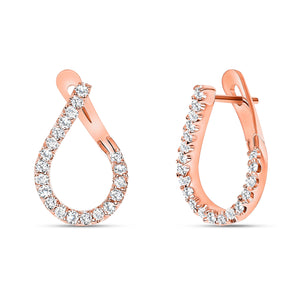 Diamond Hoop Earrings Rose Gold