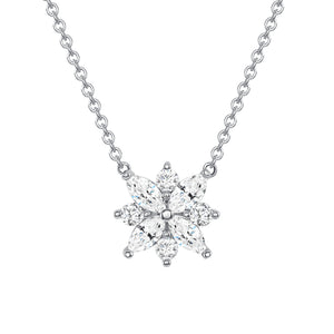 White Gold Galaxy Pendant Necklace