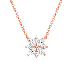 Rose Gold Galaxy Diamond Pendant Necklace