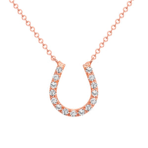Rose Gold HorseShoe Diamond necklace