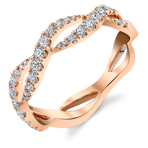 Rose Gold Infinity Wave Ring - Ledodi