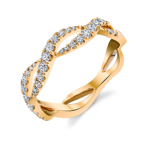 Yellow Gold Infinity Wave Ring - Ledodi