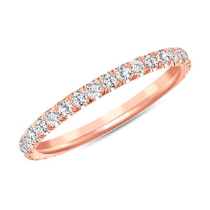 rose gold diamond ring band melody