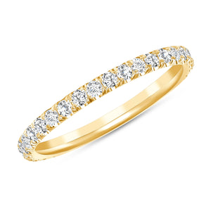 yellow gold melody diamond ring