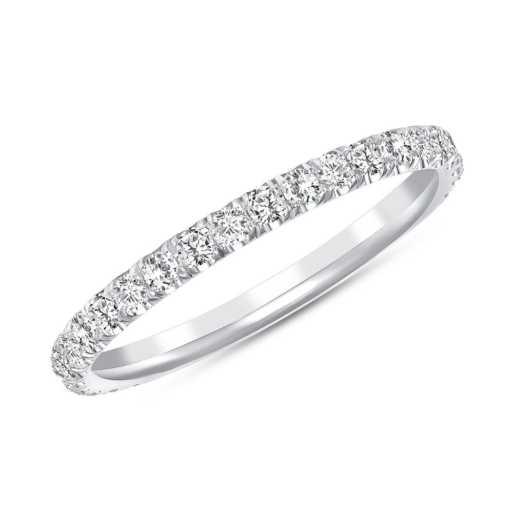 White gold melody diamond ring
