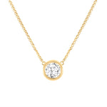 Queen Bezel Diamond Necklace