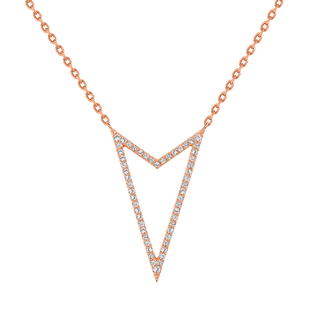 Rock Star Rose Gold Necklace Diamond