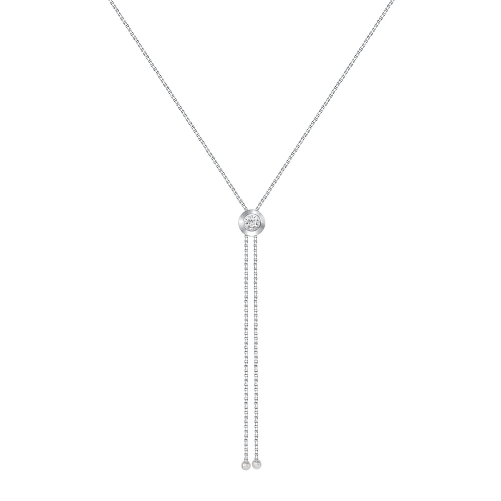 White Gold Rodeo Style Pendant Necklace