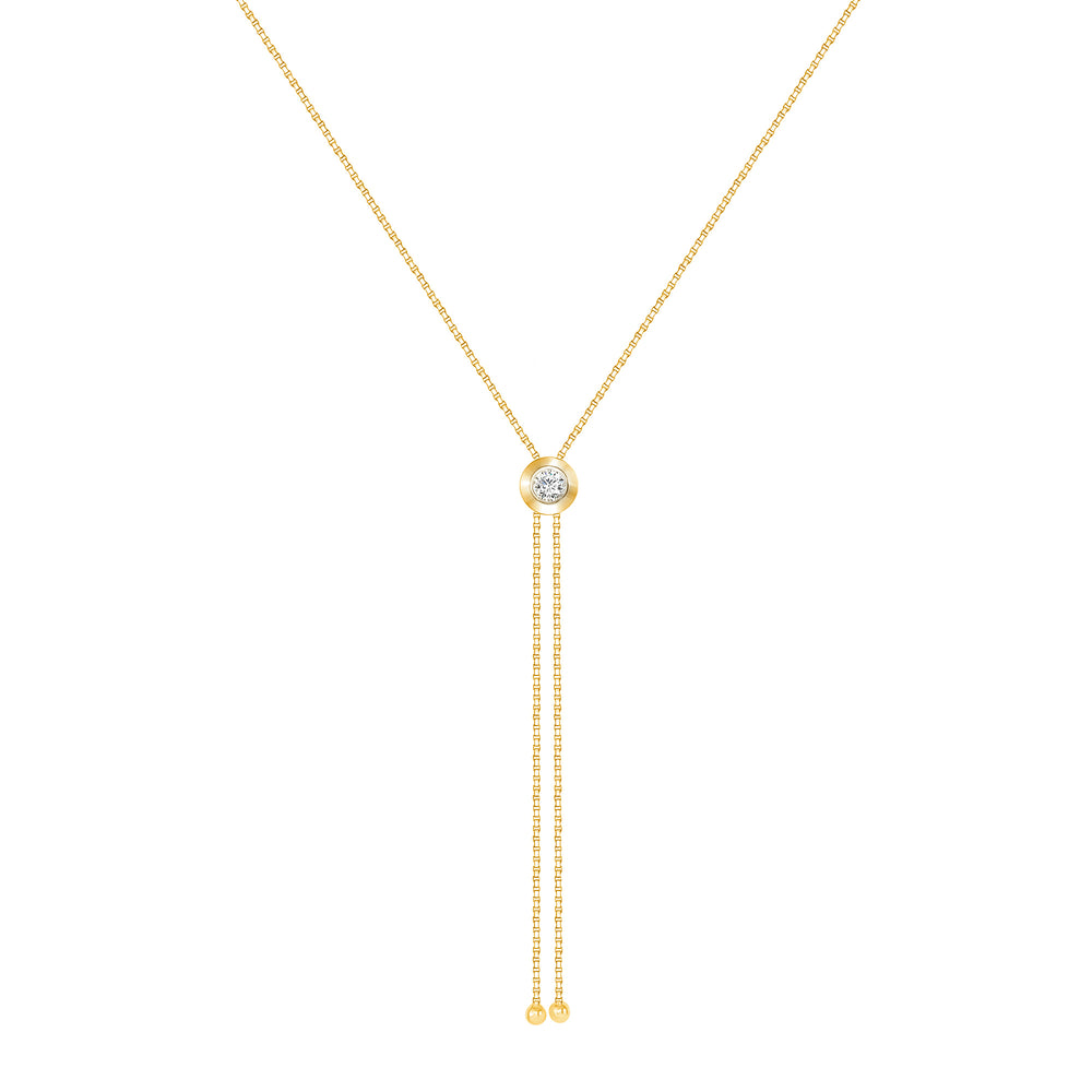 Yellow Gold Rodeo Pendant Necklace