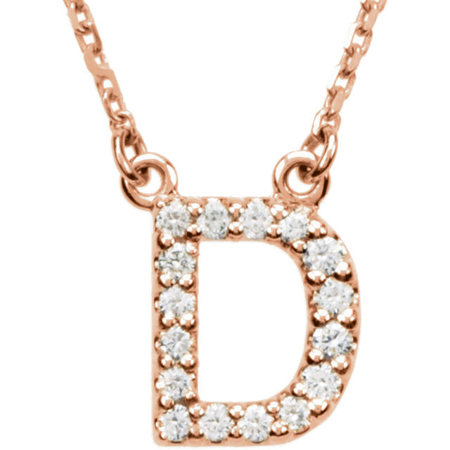 rose Gold Letter D necklace