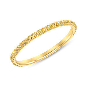 Yellow Diamond Yellow Gold Summer Fling Ring Band
